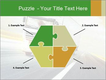 White truck PowerPoint Template - Slide 40