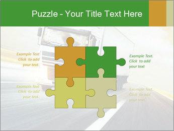 White truck PowerPoint Template - Slide 43