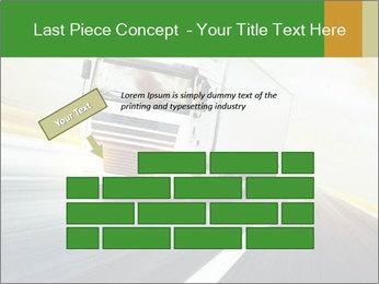 White truck PowerPoint Template - Slide 46