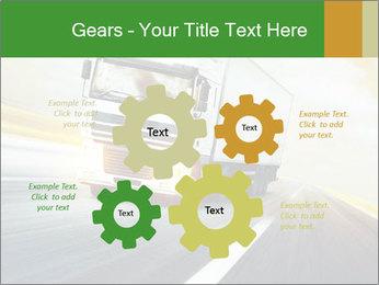 White truck PowerPoint Template - Slide 47