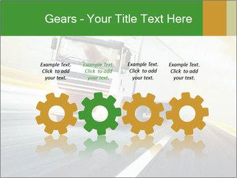 White truck PowerPoint Template - Slide 48