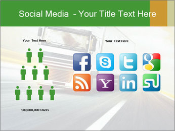 White truck PowerPoint Template - Slide 5