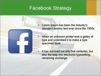 White truck PowerPoint Template - Slide 6