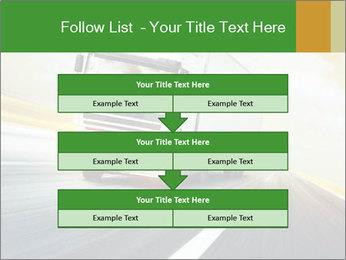 White truck PowerPoint Template - Slide 60