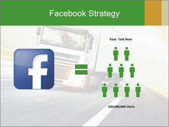 White truck PowerPoint Template - Slide 7