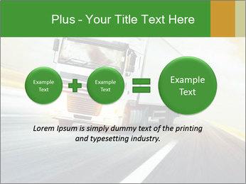 White truck PowerPoint Template - Slide 75