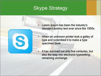 White truck PowerPoint Template - Slide 8