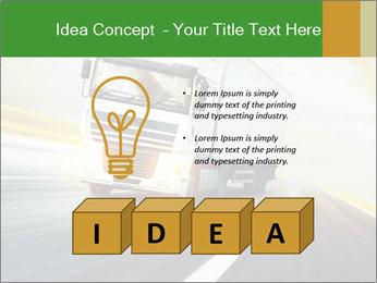 White truck PowerPoint Template - Slide 80
