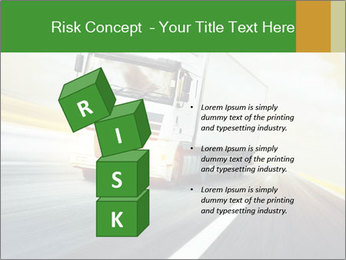 White truck PowerPoint Template - Slide 81