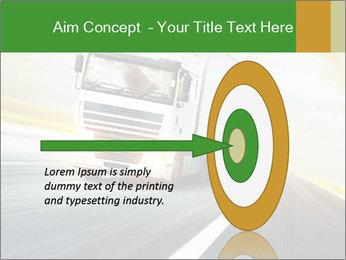 White truck PowerPoint Template - Slide 83