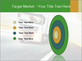 White truck PowerPoint Template - Slide 84