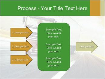 White truck PowerPoint Template - Slide 85