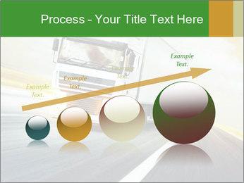 White truck PowerPoint Template - Slide 87