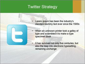 White truck PowerPoint Template - Slide 9
