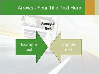 White truck PowerPoint Template - Slide 90