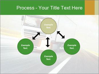 White truck PowerPoint Template - Slide 91