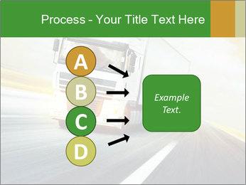 White truck PowerPoint Template - Slide 94