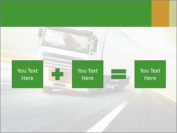 White truck PowerPoint Template - Slide 95