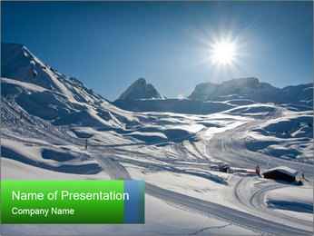 European Alps PowerPoint Template - Slide 1