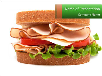 Breast sandwich PowerPoint Template