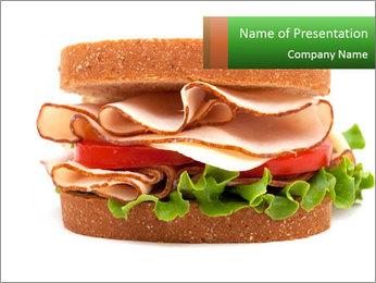 Breast sandwich PowerPoint Template - Slide 1