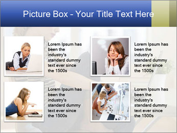 Female working PowerPoint Template - Slide 14