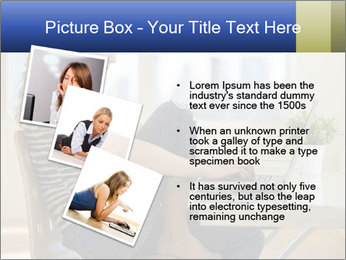 Female working PowerPoint Template - Slide 17