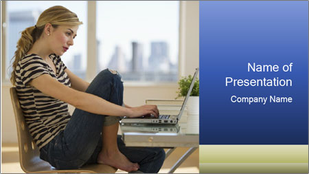 Female working PowerPoint Template