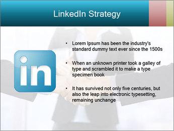 Businessmen shaking hands PowerPoint Template - Slide 12