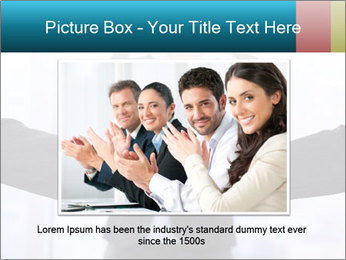 Businessmen shaking hands PowerPoint Template - Slide 16