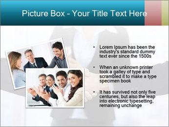Businessmen shaking hands PowerPoint Template - Slide 20