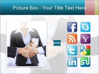 Businessmen shaking hands PowerPoint Template - Slide 21