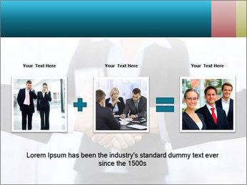Businessmen shaking hands PowerPoint Template - Slide 22