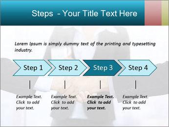 Businessmen shaking hands PowerPoint Template - Slide 4