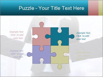 Businessmen shaking hands PowerPoint Template - Slide 43