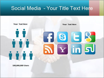 Businessmen shaking hands PowerPoint Template - Slide 5