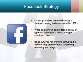Businessmen shaking hands PowerPoint Template - Slide 6