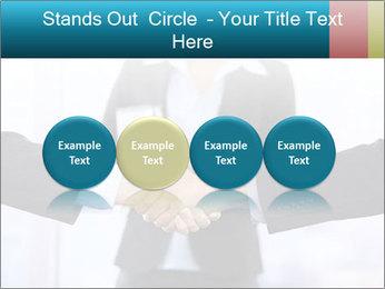 Businessmen shaking hands PowerPoint Template - Slide 76