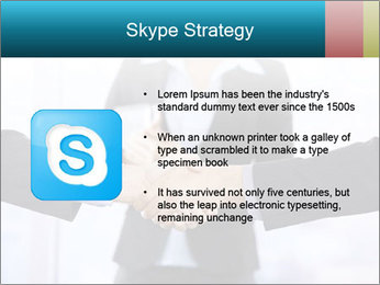 Businessmen shaking hands PowerPoint Template - Slide 8