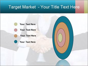 Businessmen shaking hands PowerPoint Template - Slide 84