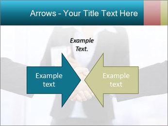Businessmen shaking hands PowerPoint Template - Slide 90
