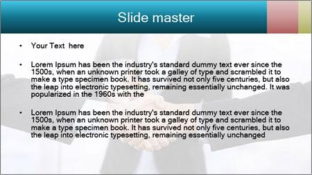 Businessmen shaking hands PowerPoint Template - Slide 2