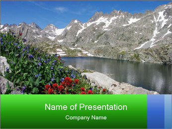Alpine Flowers PowerPoint Templates - Slide 1