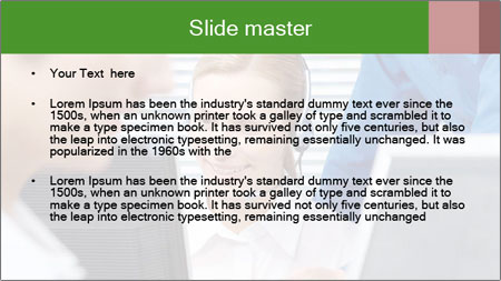 Boss explaining work PowerPoint Template - Slide 2
