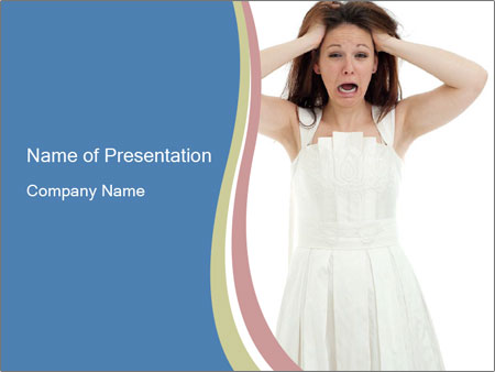 Angry bride PowerPoint Templates