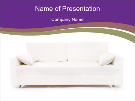 White sofa PowerPoint Template