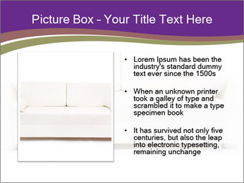 White sofa PowerPoint Template - Slide 13