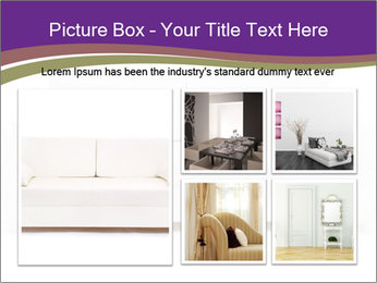 White sofa PowerPoint Template - Slide 19