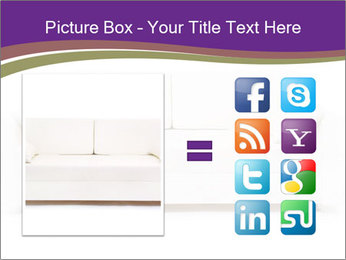 White sofa PowerPoint Template - Slide 21