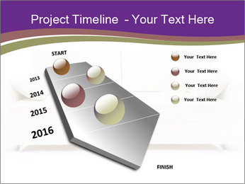 White sofa PowerPoint Template - Slide 26